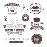 Bakery signs set Stock Photo