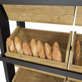 Bakery Slatted Shelf Fixture on white. 3D illustration, clipping path Royalty Free Stock Photo