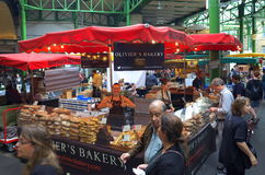 Bakery Stall in Borough Market Royalty Free Stock Photos