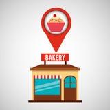 Bakery store cupcake dessert. Vector illustration eps 10 stock illustration