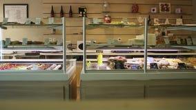 Bakery store interior stock footage