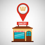 Bakery store wheat spike Royalty Free Stock Photography