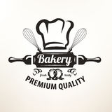 Bakery stylized vector emblem or label Stock Images