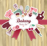 Bakery and sweet abstract illustration Royalty Free Stock Photos