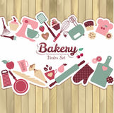 Bakery and sweet abstract illustration. royalty free illustration