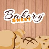 Bakery Sweet Wood Background Vector. Bakery background vector food cupcake cake abstract frame illustration candy sweets design sweet retro vintage icon web Royalty Free Stock Image