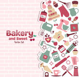 Bakery and sweets abstract illustration Stock Image