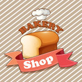Bakery theme with loaf of bread Royalty Free Stock Photos