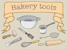 Bakery Tools Royalty Free Stock Images