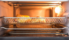 Bakery in oven front view Royalty Free Stock Photos