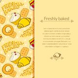 Bakery vector beautiful holiday background Royalty Free Stock Photo