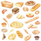 Bakery vector elements Royalty Free Stock Photography