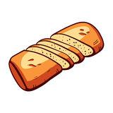 Bakery Vector 16. Hand drawn bread on the white background. Vector illustration Royalty Free Stock Photography