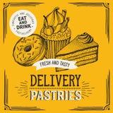 Bakery vector illustration - cake, donut, croissant, cupcake vector illustration