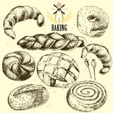 Bakery vector set. Hand drawn Royalty Free Stock Photo
