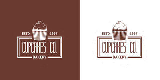 Bakery Vector Vintage Logos Royalty Free Stock Images