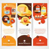 Bakery vertical banner set Stock Photography