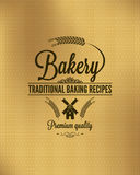 Bakery vintage bread label background