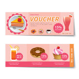 Bakery voucher discount  template design Royalty Free Stock Image
