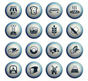 Bakery icon set. Bakery web icons for user interface design stock illustration