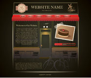 Bakery website template Stock Image
