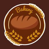 Bakery Wheat Circle Brown Background Vector Stock Photos