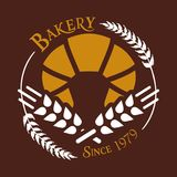 Bakery Since 1979 White Wheat Vector Stock Images