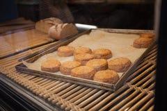Bakery window Royalty Free Stock Image