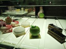 Bakery window window display Royalty Free Stock Image