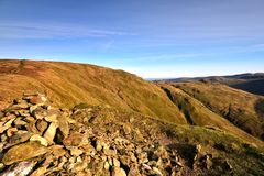Bakestone Moss from High Pike. Looking to High Street from High Pike Royalty Free Stock Photography