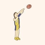 Baketball exercise theme elements vector,eps. Vector illustration file Stock Image