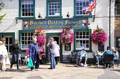 Bakewell Pudding Factory and cafe. Stock Photos