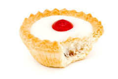 Bakewell tart with a missing bite Royalty Free Stock Image