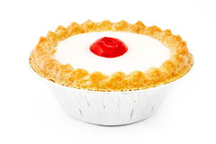 Bakewell tart over white Royalty Free Stock Photos