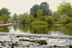 Bakewell weir Royalty Free Stock Image
