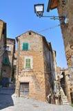 Bakgata. Capranica. Lazio. Italien. arkivfoton