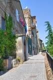 Bakgata. Capranica. Lazio. Italien. royaltyfria bilder