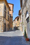 Bakgata. Capranica. Lazio. Italien. royaltyfri foto