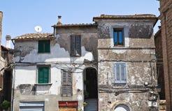 Bakgata. Capranica. Lazio. Italien. fotografering för bildbyråer