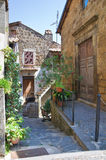 Bakgata. Capranica. Lazio. Italien. arkivfoto