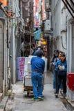 Bakgata i Kowloon, Hong Kong Fotografering för Bildbyråer