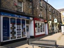 Bakgata i Lancaster England i mitten av staden fotografering för bildbyråer