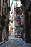 Bakgata i Naples Arkivbilder