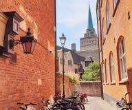 Bakgata i Oxford, England Arkivbilder