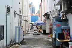 Bakgata i Singapore Fotografering för Bildbyråer