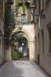 Bakgata i Verona, Nortehrn Italien Fotografering för Bildbyråer