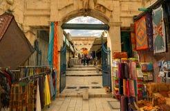bakgata jerusalem Fotografering för Bildbyråer