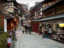bakgata kyoto Arkivfoto
