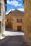 Bakgata. Montefalco. Umbria. Italien. arkivfoton