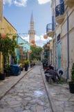 Bakgator av Limassol royaltyfri fotografi